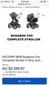 Factory new Bugaboo fox complete stroller