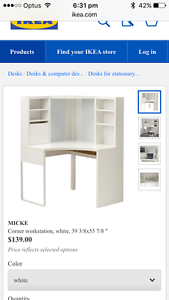 Ikea Micke Corner Workstation desk Croydon Burwood Area Preview