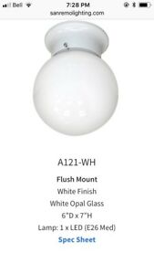 White Opal Glass light