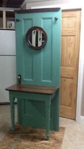 Rustic front entrance way table