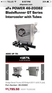 AFE aftermarket intercooler and piping 11 and 12 cummins