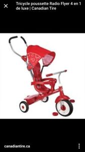 Tricycle poussette radio flyer