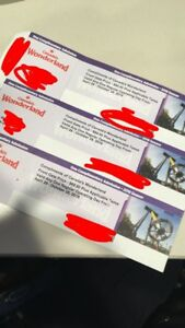 Wonderland tickets x3