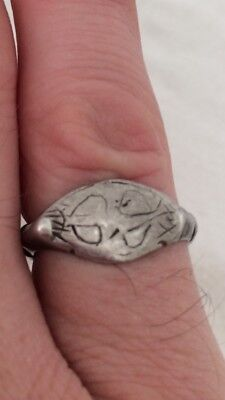 Ancient Viking Silver Kievan Rus Ring 11th To 13th Century AD or Earlier