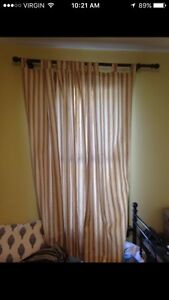 Curtains with rods, shears etc 13 windows