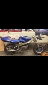 Two 49cc pocket bikes ( one needs motor to be built )
