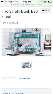 White Single & Double / tri bunk beds
