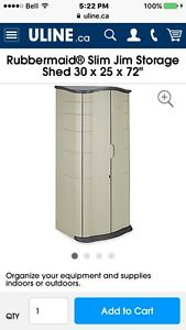 Rubbermaid slim Jim shed