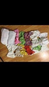 Cloth diapers with inserts