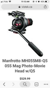 Manfrotto head and Slider