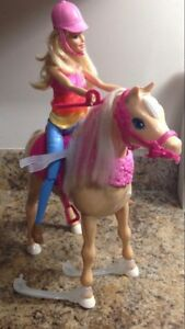 Barbie with her dancing horse