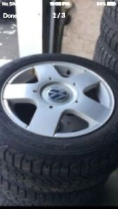 4-15 inch VW Rims and tires 5x100