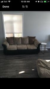 COUCH CHAIR & OTTOMAN