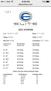 Elite Answer compound bow Stratford Kitchener Area image 10