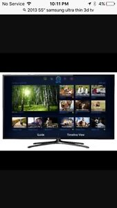 """55"""" 3D ultra thin smart tv. With wall mount."""