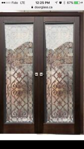 Door glass inserts,wrought iron stain glass inserts