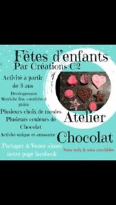 Fêtes d'enfants, atelier chocolat. -Créations C2-