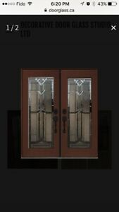 Decorative Door Glass inserts.wrought iron glass inserts