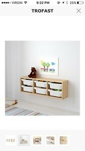 Ikea trofast wall storage toys etc