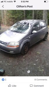 Need gone today. 2006 aveo hatchback. $650 if gone today