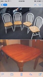 Table & Chairs solid wood