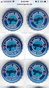 Whale Watching Station LaBatt Blue Beer Caps