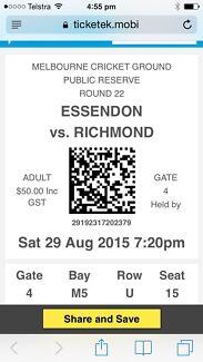 Essendon vs Richmond at MCG Thornbury Darebin Area Preview
