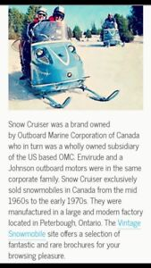 Wanted: Vintage OMC Snow Cruiser items