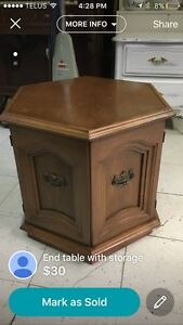 End table with storage  Edmonton Edmonton Area image 1