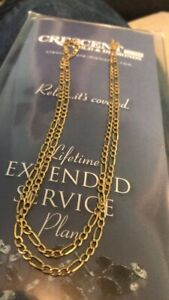 Stamped gold chain
