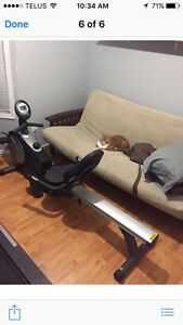 Recumbent exercise bike and rower combo
