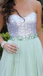 Elegant strapless mint green formal dress by Studio Minc Hope Island Gold Coast North Preview