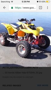 Looking for a Honda 400ex blown up or not running.