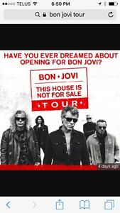 Bon Jovi tickets Toronto April 11th. Paid $250 looking for $200.