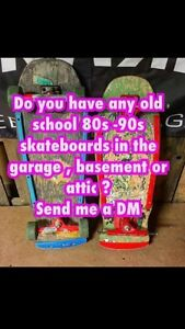 WANT TO BUY 1980's SKATEBOARDS!!!