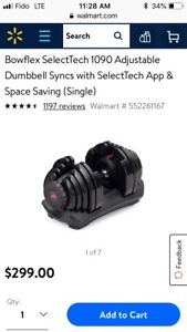 Bowflex 1090 dumbbell $280 single