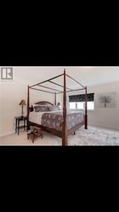 4 post Canopy king bed frame