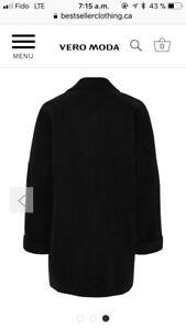 Manteau lainage noir