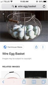 ISO - Wire Egg Basket