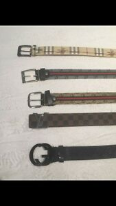 Gucci Louie Vuitton and Burberry Belts Great Quality For Cheap