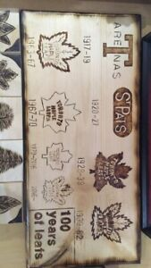 100 years of leafs plaque