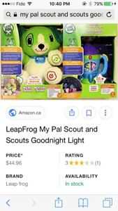 Leapfrog my pal scout and scouts goodnight light