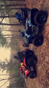 Lifted 2014 Polaris sportsman 400 HO Blue 5500$ OBO