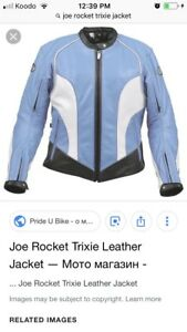 Joe rocket Trixie leather jacket - almost brand new