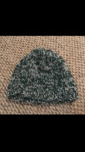Green knit Winter Hat. Size L/XL
