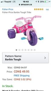Fisher Price Barbie Tricycle's