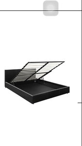 Brand New Deluxe Gas Lift PU Leather Storage Bed Frame Black Sydney City Inner Sydney Preview