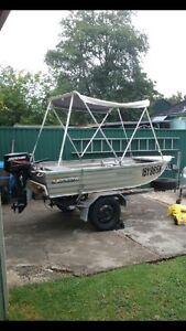 Tinny dinghy trailer registered 8hp Rydalmere Parramatta Area Preview
