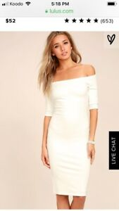 White dress for wedding or rehearsal- brand new with tags