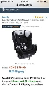 BRAND NEW IN BOX Evenflo Safemax All in One Car Seat
